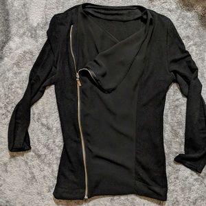 Jackets & Blazers - Black light weight zip up jacket